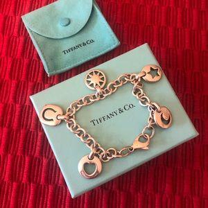 Vintage Tiffany & Co silver stencil charm bracelet